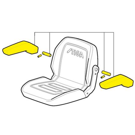 Комплект подлокотников для сидения   387185100/0
